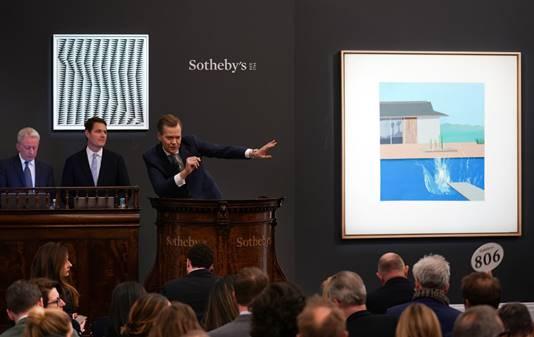 Courtesy of Sotheby's Contemporary Art Evening Auction | 11 February 2020 Lot 16 David Hockney The Splash 1966 72 by David Hockney 72in. Est. £20 - 30 million