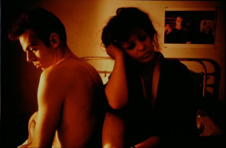 Nan Goldin, Self-portrait in Kimono with Brian, NYC, 1983- Promised gift of Steven Scott, Baltimore, in honor of the National Museum of Women in the Arts' tenth anniversary