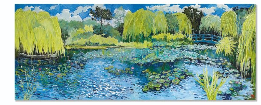 Pang Jiun_Monet's Garden Courtesy of Sotheby's