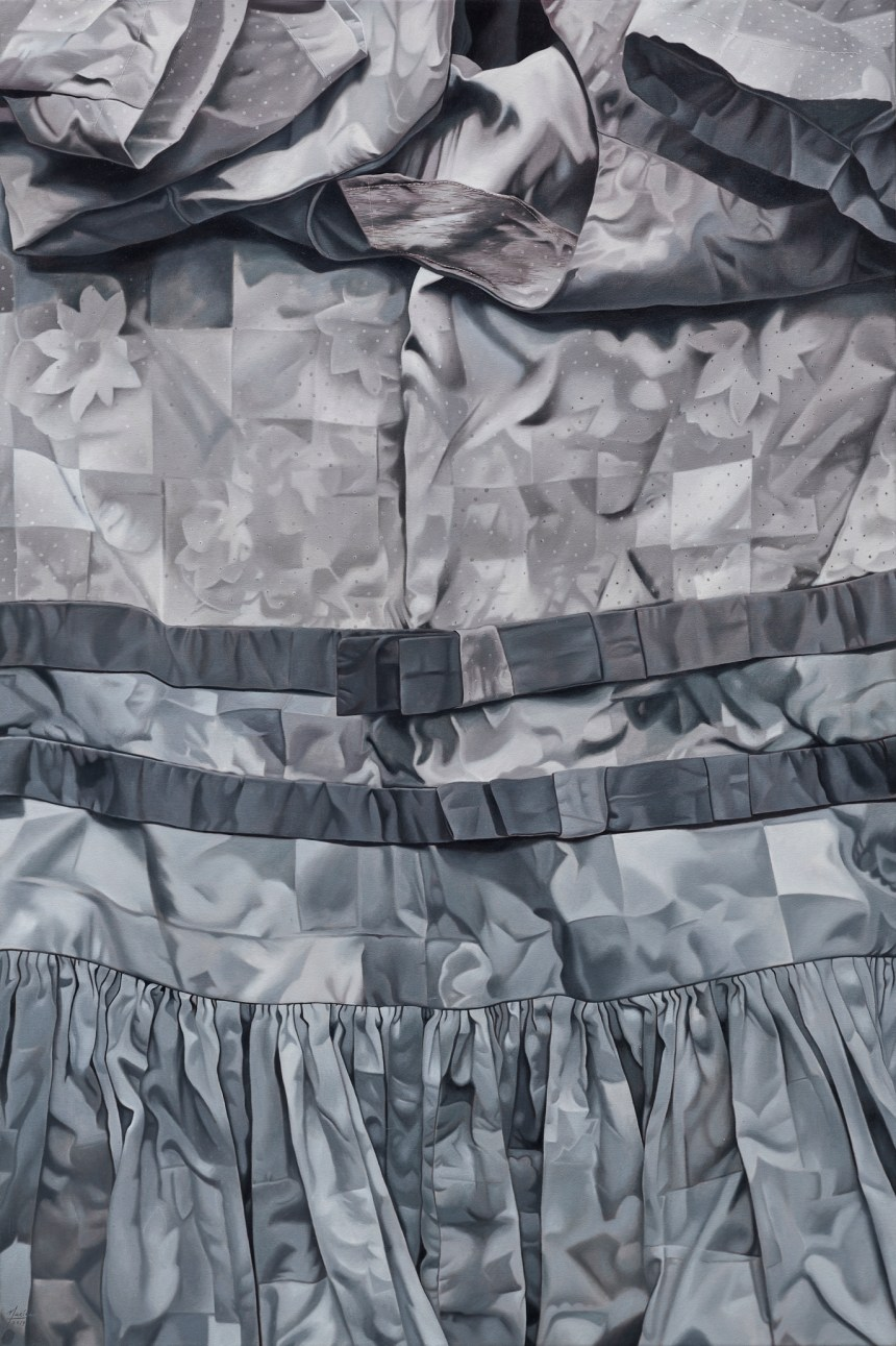 瑪莉娜・克魯斯 Marina CRUZ, 《不同的灰》 Different Shades of Grey 2019 油彩、畫布 Oil on canvas 182.88 x 121.92 cm, Courtesy of Mind Set Art Center