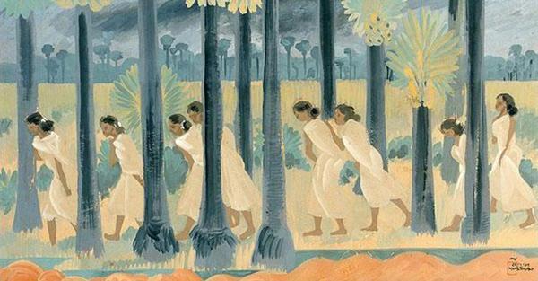 (New Clouds, 1937 by Nandalal Bose