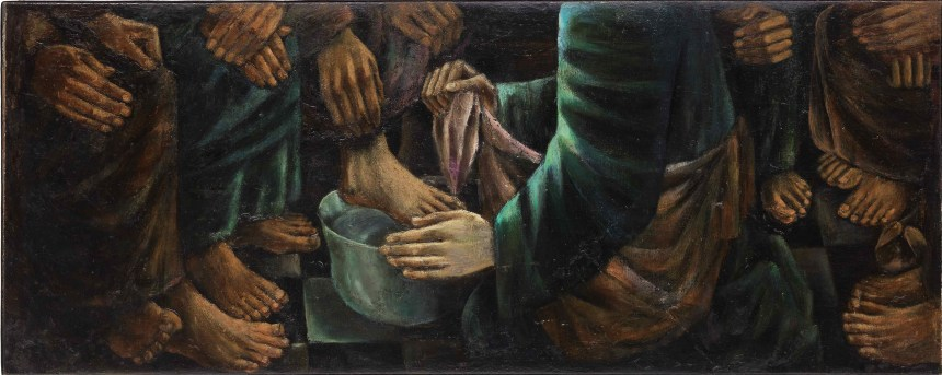 Anita Magsaysay-Ho - Washing of the Feet, Courtesy of Sotheby's