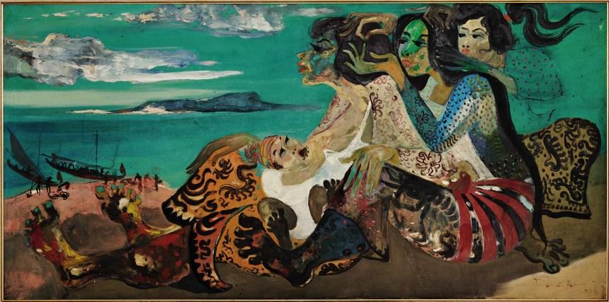 Hendra Gunawan_By the Beach, Courtesy of Sotheby's