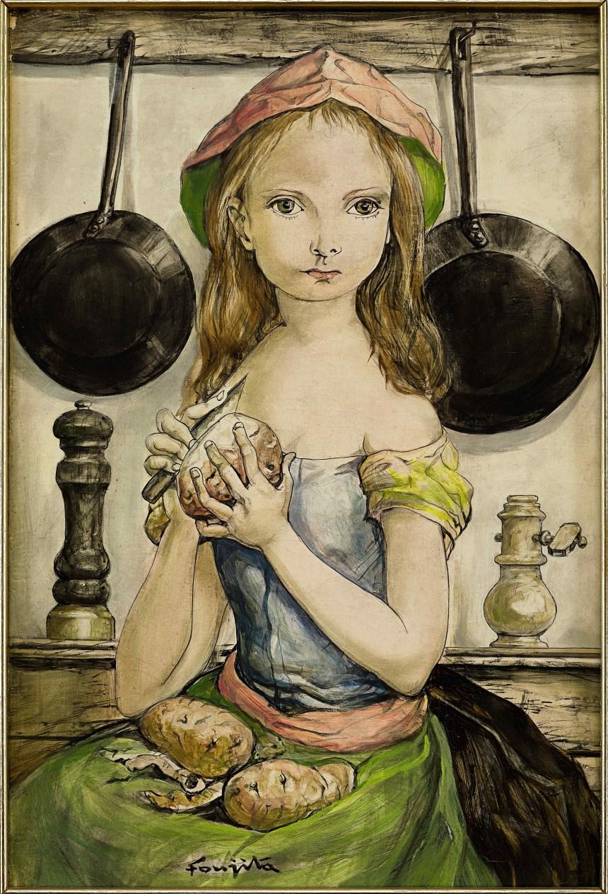 藤田嗣治Leonard Tsuguharu, Foujita_La Petite Cuisiniere, Courtesy of Sotheby's