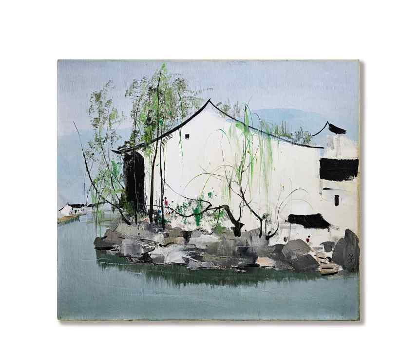 吳冠中 Wu Guanzhong_Hometown of Lu Xun, Courtesy of Sotheby's