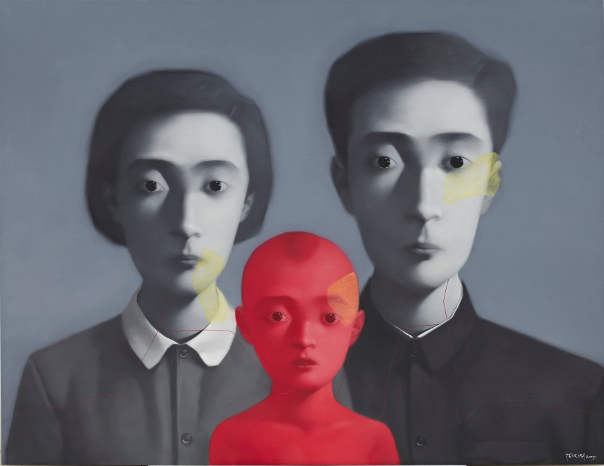 Zhang Xiaogang_Bloodline series Big Family No.3_Courtesy of Phillips