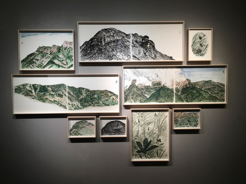 LIN Chuan-Chu 林銓居, 義大利北部山區寫生 一組9張 , Outdoor drawings, the Northern Mountains in Italy, Courtesy of 安卓藝術 Mind Set Art Center