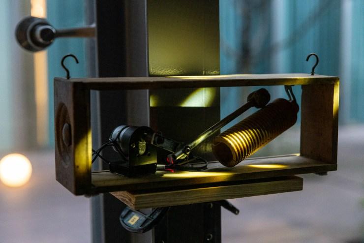 藝術家蕭聖健作品於【月光感受會–光環境藝術計畫】, 圖/中強光電藝術文化基金會 提供