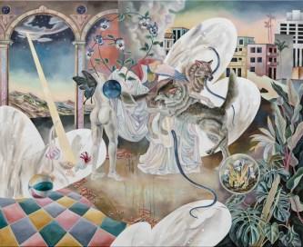歐靜雲, 風景畫的盡頭是一座虛構的荒原-露水 The End of Landscape is the Imaginary Heath-Dewdrop, 2021, 油彩、畫布 Oil on canvas, Courtesy of the artist