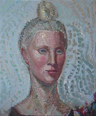 Coppersmith_Yvette_Meren-as-a-Mermaid_oil-on-linen_45.5cmx38cm_2014_2