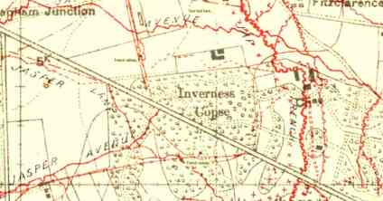 Inverness Copse Trench Railway, Ypres 1914.