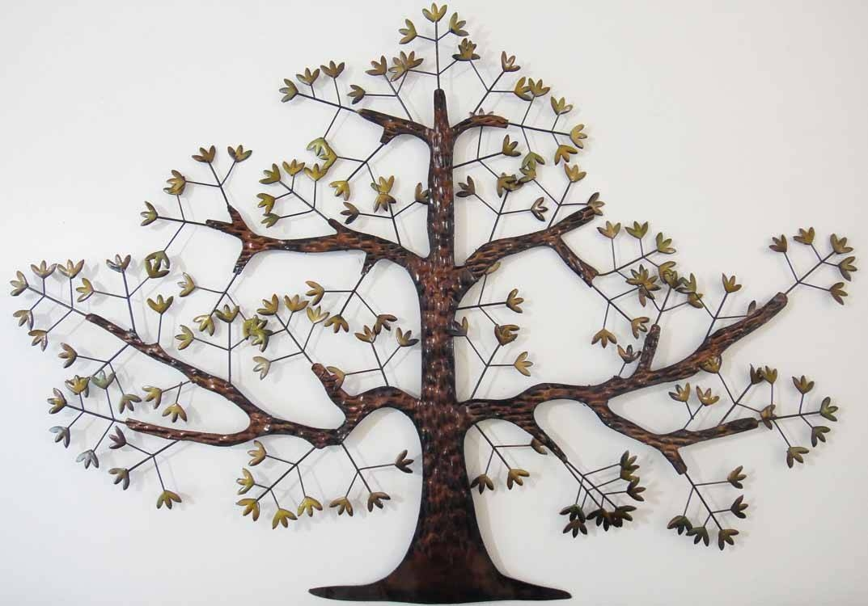 30 Collection Of Metal Oak Tree Wall Art