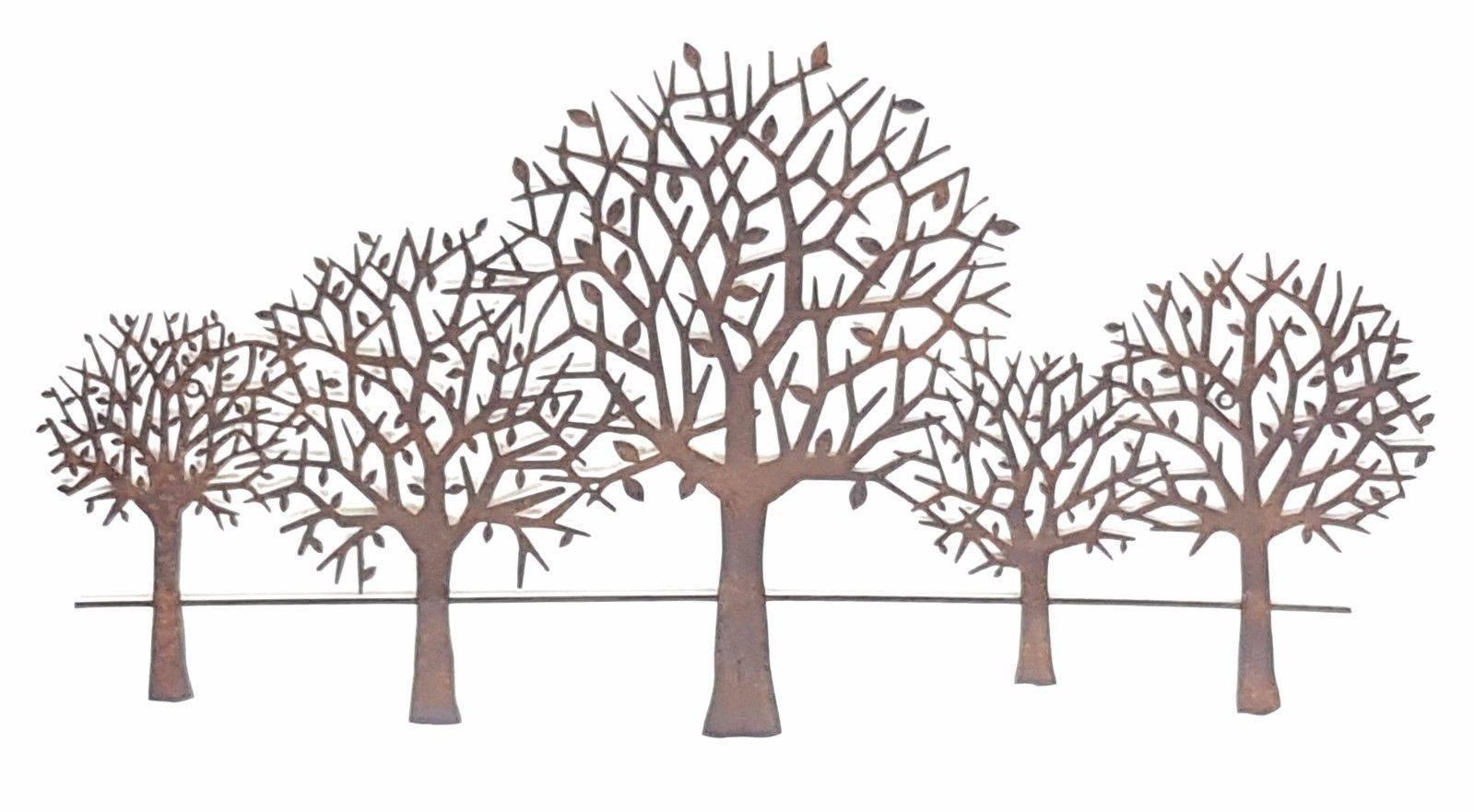 2019 Latest Metal Tree Wall Art Sculpture