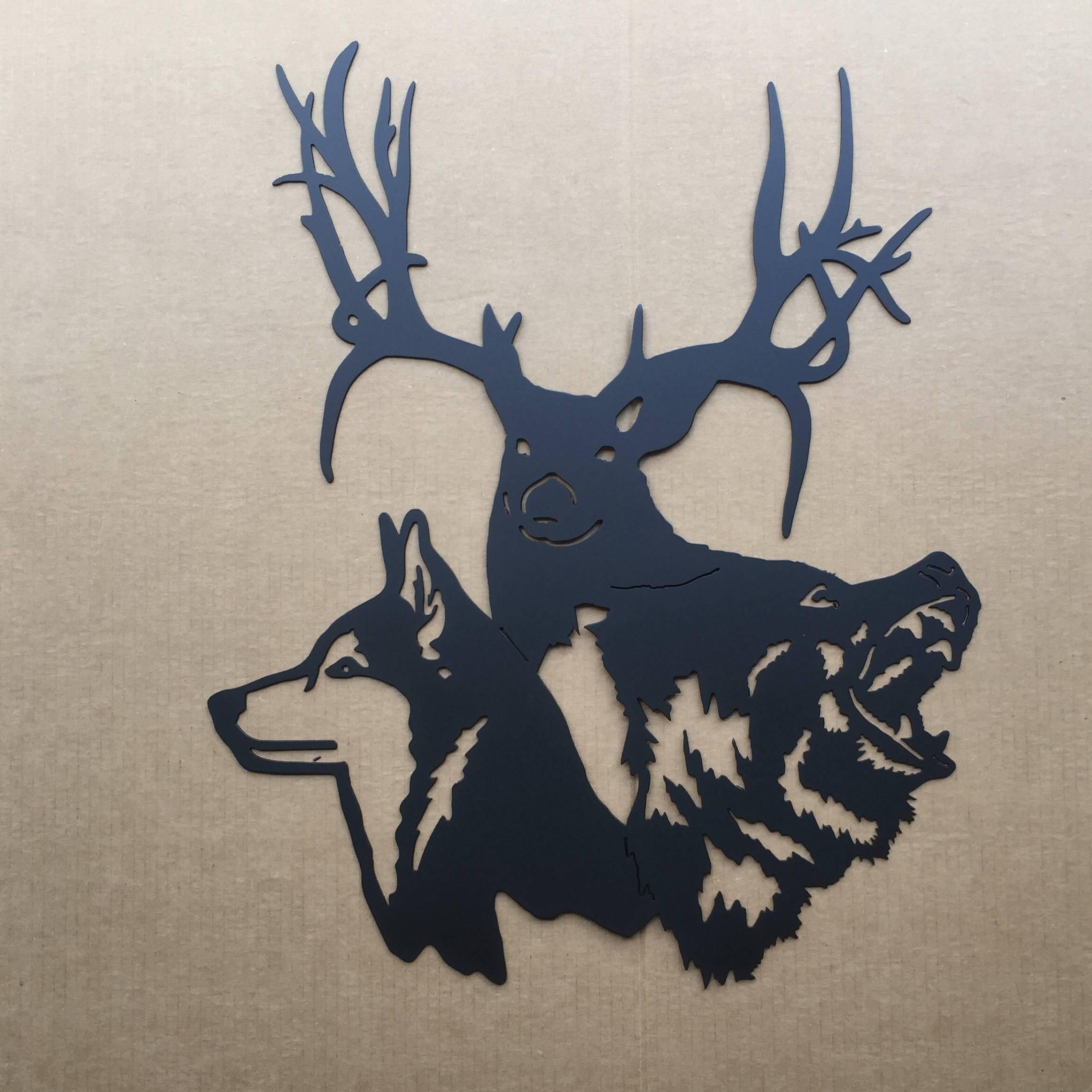 20 Best Ideas Of Deer Metal Wall Art
