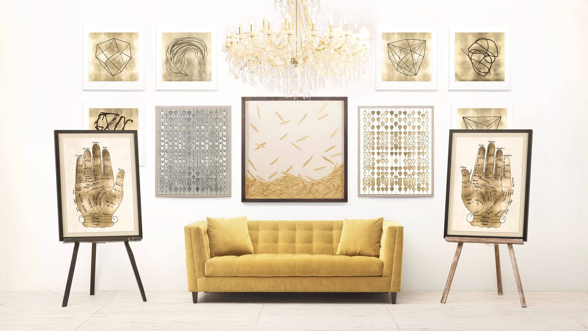 20 Best Ideas Of Abstract Leaves Wall Art