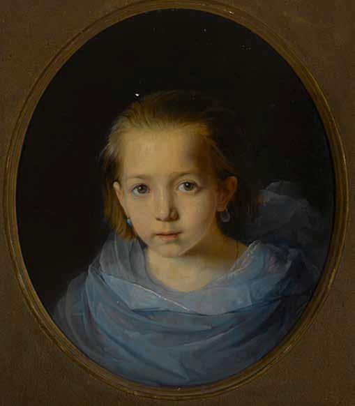 Константин Маковский. «Портрет девочки в голубом». 1858