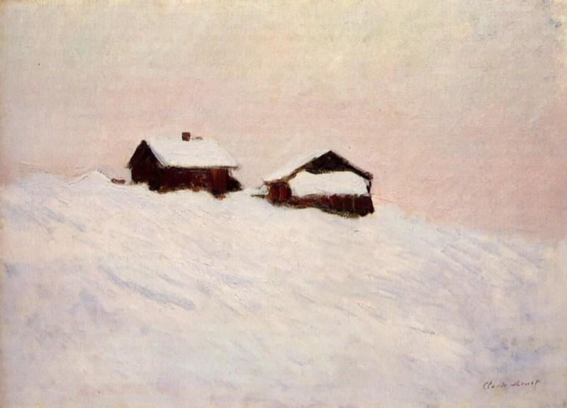 Клод Моне. «Дома в снегу», 1895