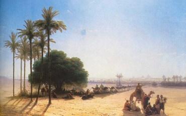 Иван Константинович Айвазовский «Караван в оазисе. Египет», 1871