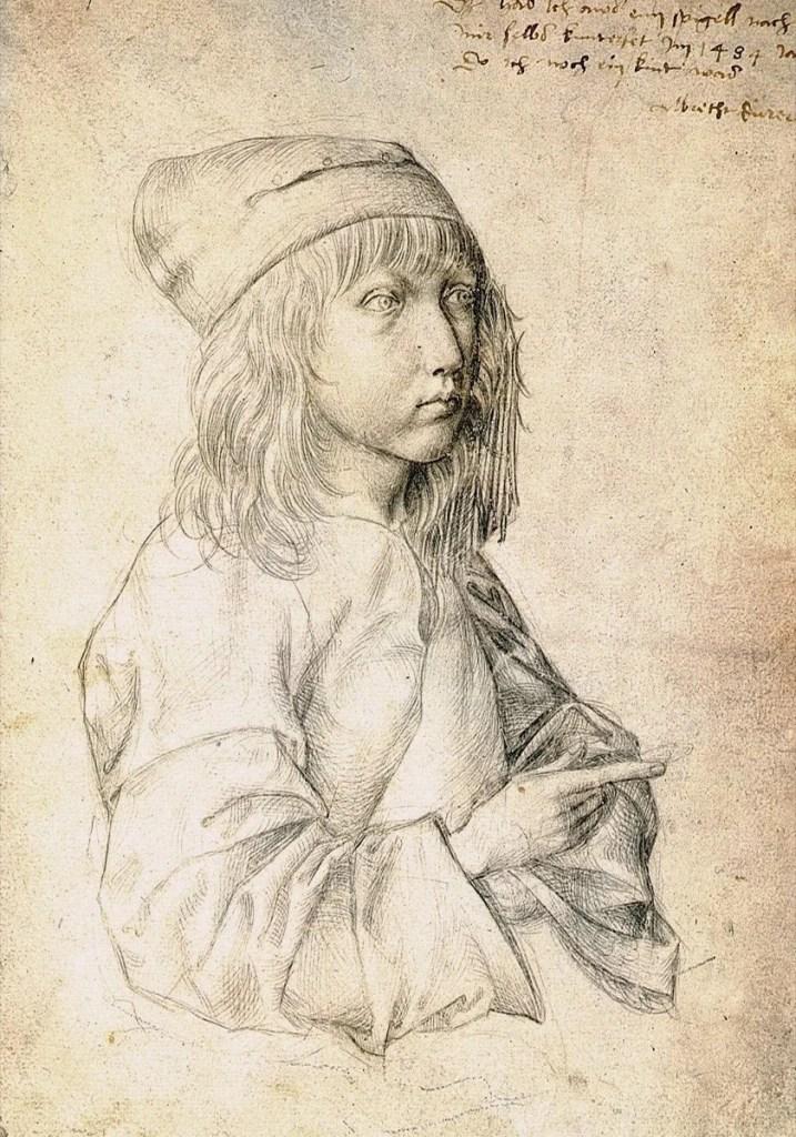 Альбрехт Дюрер, автопортрет, 1484