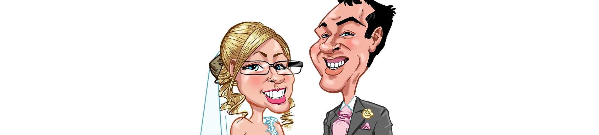 Caricature Wedding Message Board
