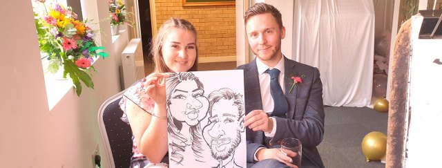 Wedding Caricatures Entertainment in Stamford