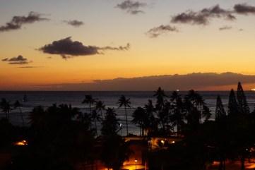 Golden Sunset from the Hilton Hawaiian Village