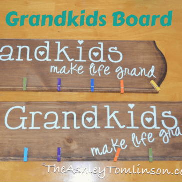 Grandkids Picture Board, Mother's Day Tutorial