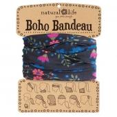 Natural Life Boho Bandeau - Black Floral Print