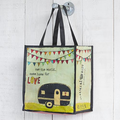 Natural Life Recycled Gift Bag - Camper