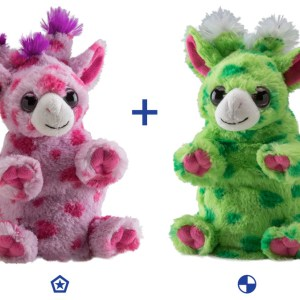 switch-a-rooz-giraffe-green-pink-stuffed-animal