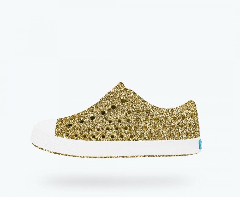 Native Shoes Jefferson Bling Gold BlingShell White  VG2x60HA