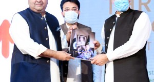awad hussain presents 3 years performance report of pti government to prime minister Imran khan