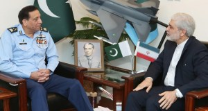 Iranian envoy Meets with Air Chief Marshal Zaheer Ahmed Baber