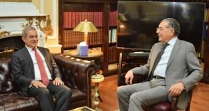 Ambassador Munir Akram  Meeting With Mr. Indrika Ratwatte