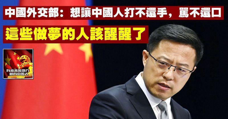 外交部:想讓中國人打不還手,罵不還口,這些做夢的人該醒醒了