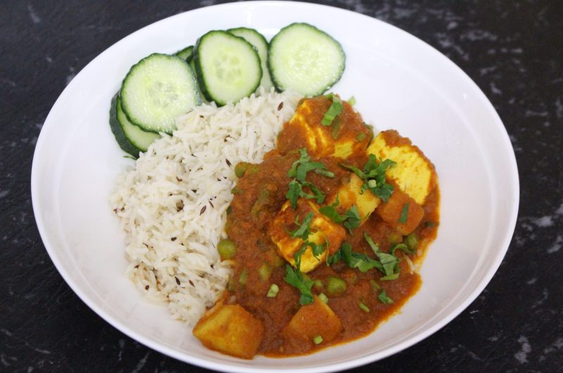 Matar Paneer - Curried Indian cottage cheese