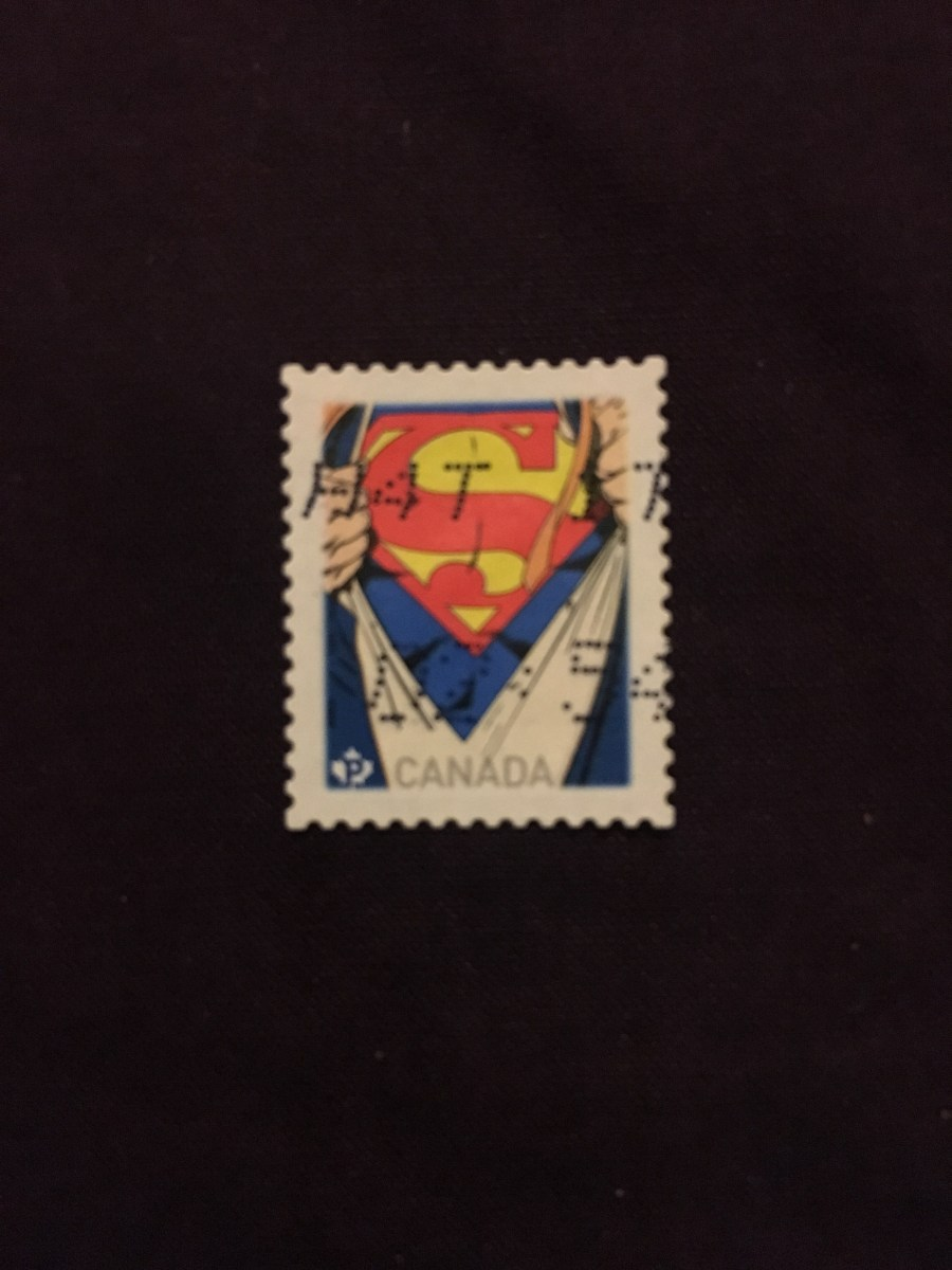 Canadian Superman Logo Stamp
