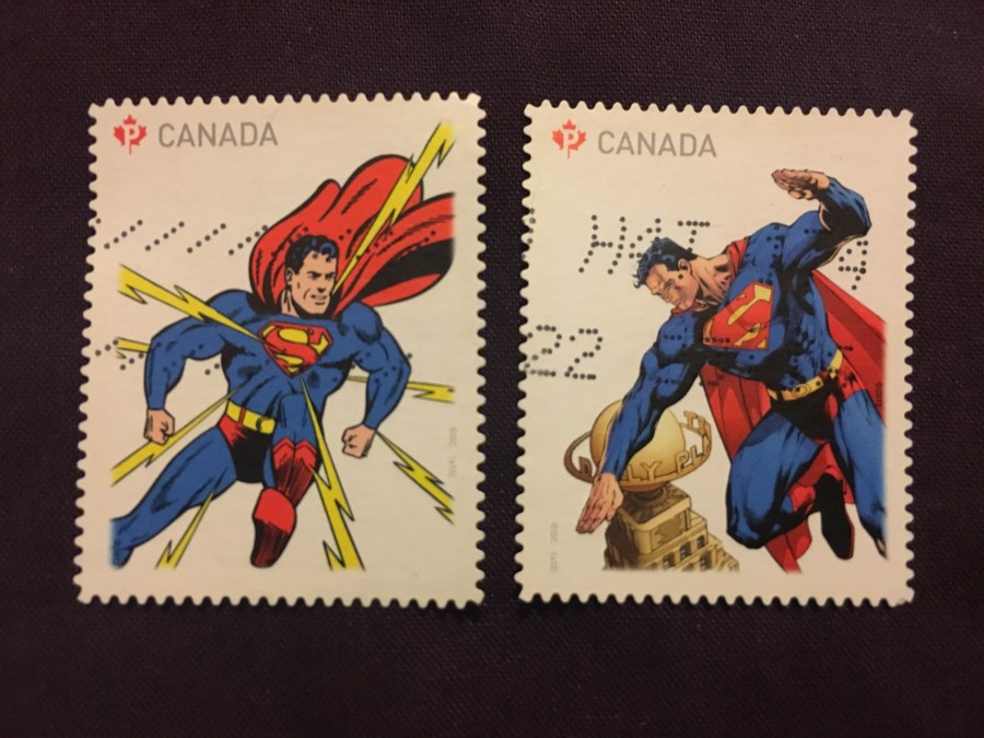 Superman Canadian Stamps