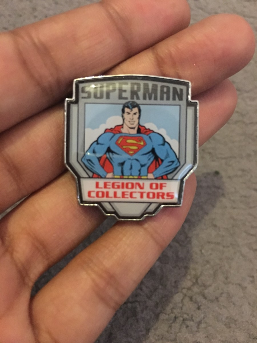 Legion of Collectors Superman Pin Badge