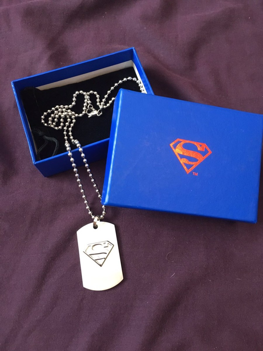 Sterling Silver Superman Dog Tags