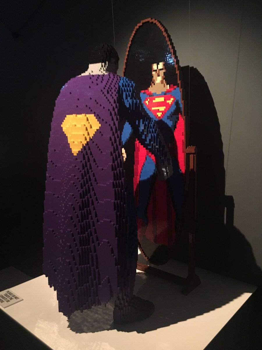 Superman Bizarro Lego Sculpture