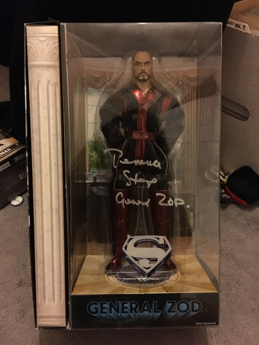 General Zod Signed Figurine by Terrance Stamp