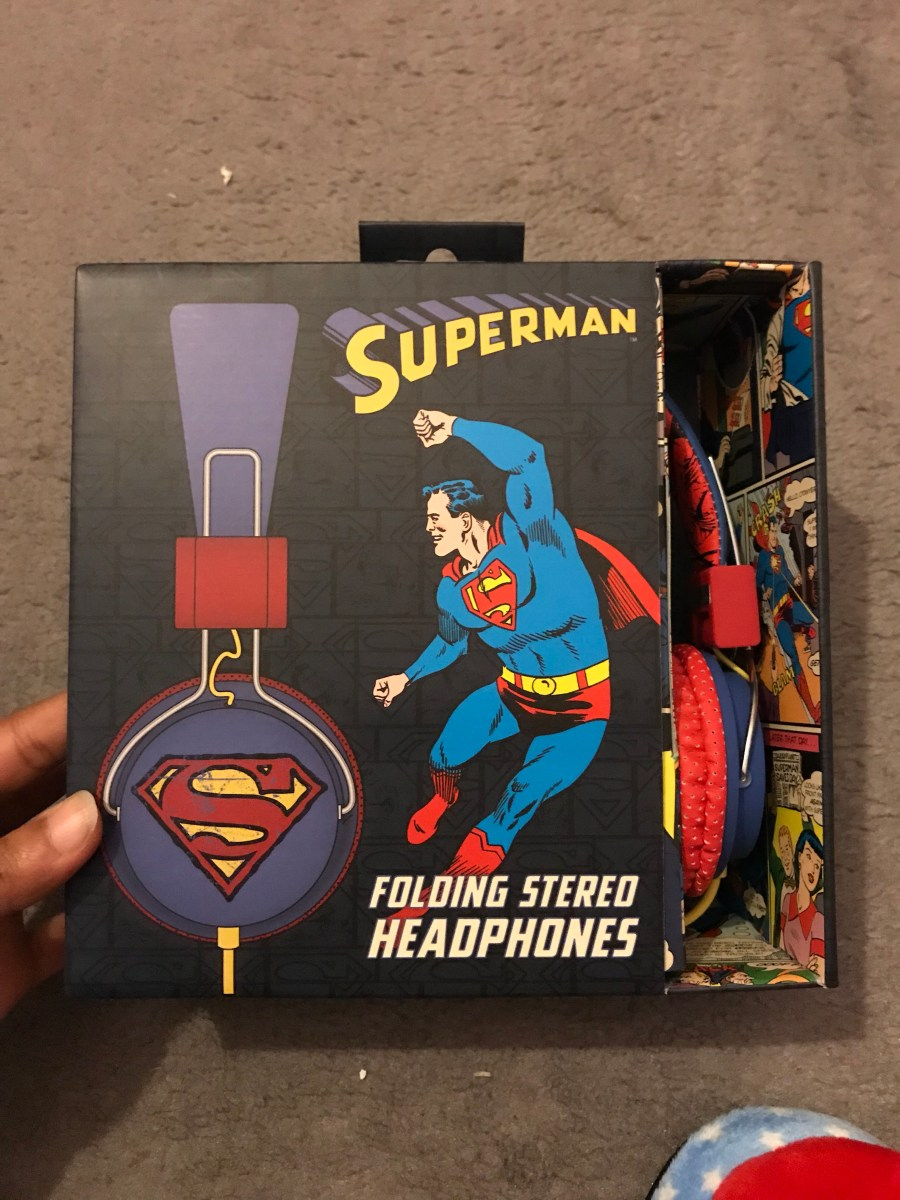 Superman Folding Stereo Headphones