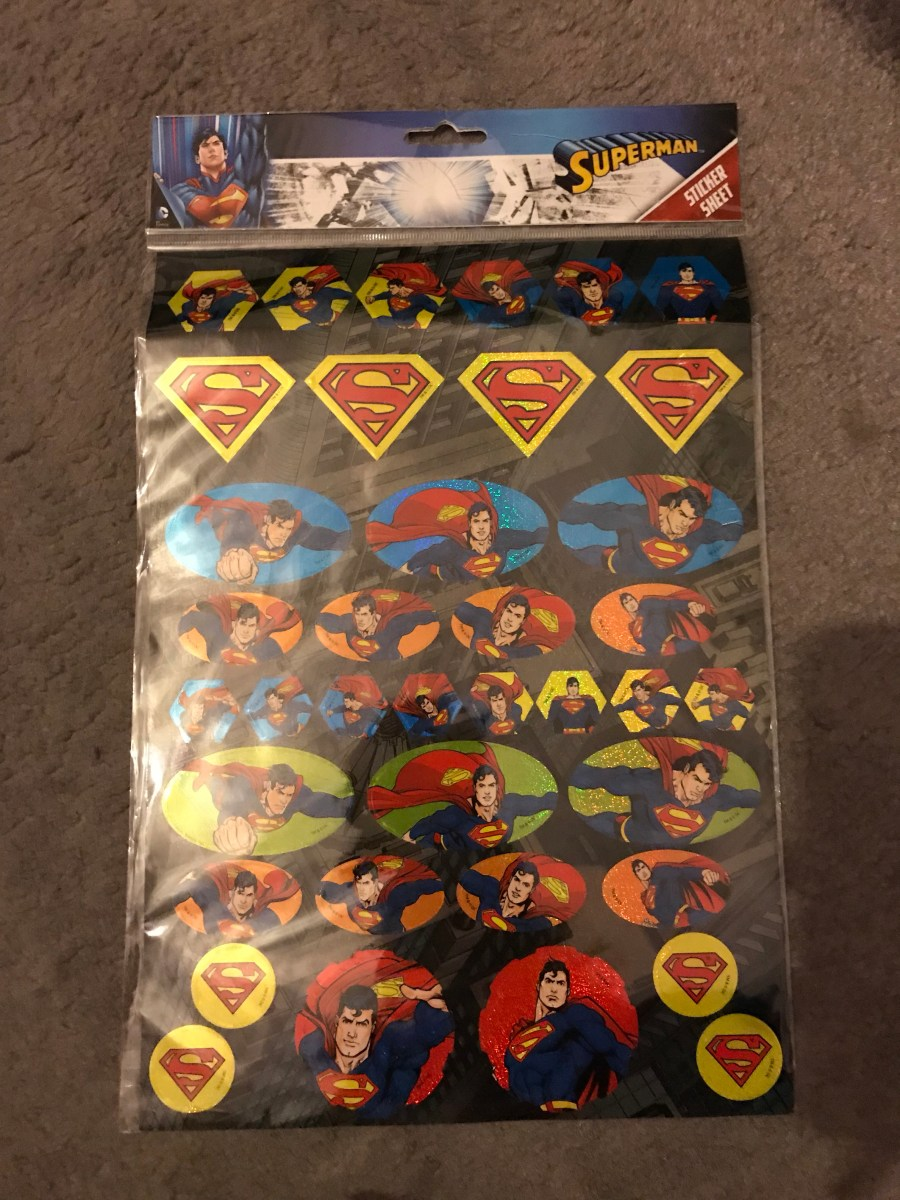 Superman Sticker Sheet