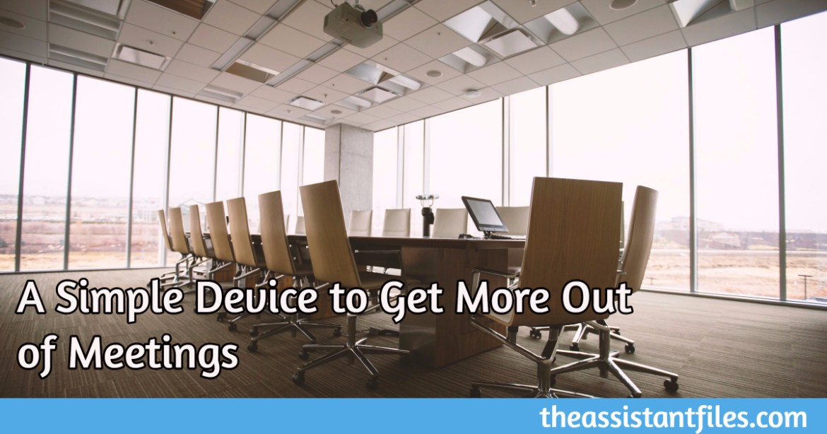 A Simple Device to Get More Out of Meetings