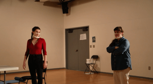 """""""The Thanksgiving Play,"""" directed by Hannah Gross '21, filmed by Anthony Nikitopoulos '21."""