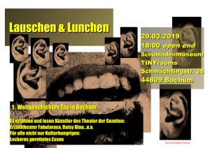 Lauschen & Lunchen - 1. Weltgeschichtentag in Bochum @ Tiny Museum