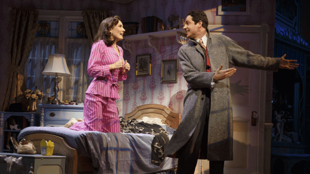 Laura Benanti and Zachary Levi (Joan Marcus)