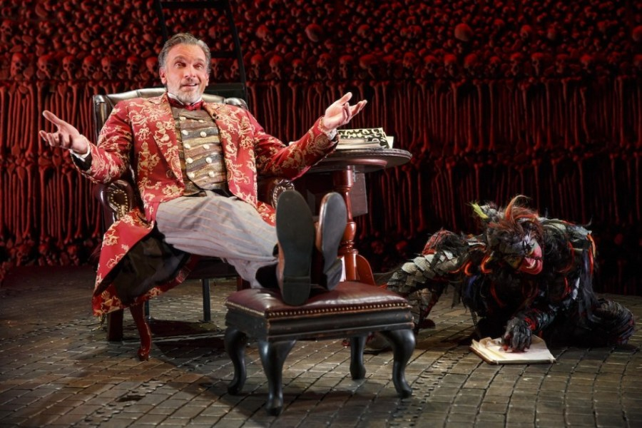 Tempt Yourself with The Screwtape Letters   Theater Pizzazz Brent Harris and Shiloh Goodin in The Screwtape Letters  Photo by Joan  Marcus 4