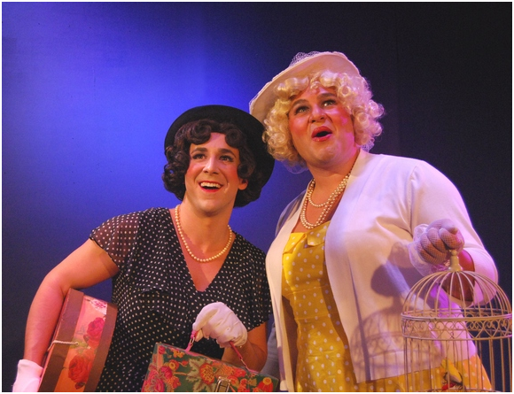 Josh Kenney and Nick Morrett in a scene from Fabulous! The Queen of New Musical Comedies (Photo credit: Rick Berube)